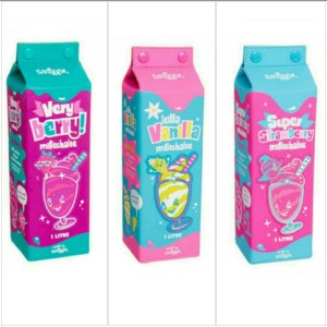 jual smiggle milk shake carton scented pencil case very