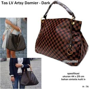 tas wanita handbag kulit lv arsty damier dark