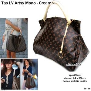 tas wanita handbag kulit lv arsty monogram cream