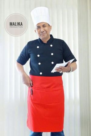 baju chef atau baju koki model #1 bahan japan/american drill
