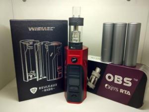 Paket Super Ngebul Wismec Rx2/3 Lengkap Langsung Pakai Rokok elektrik