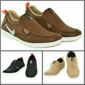 sepatu casual slip on & loafers pria | nike free motion boston | murah