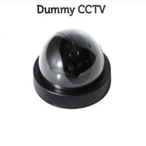 Fake Dummy Motion Detection CCTV System Security Camera - Black