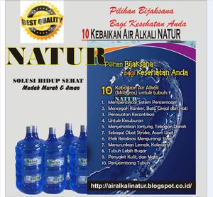Air Alkali, Air alkali NATUR, Air Kesehatan, Air Organik