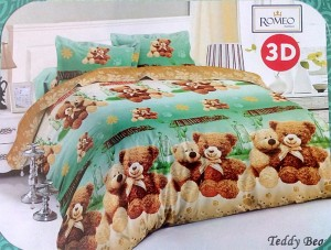 Bedcover Romeo ukuran 180 x 200 / King / No.1 – Teddy Bear