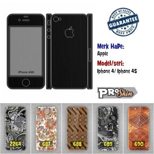 Garskin hp Apple Iphone 4/ Iphone 4S harga murah motif kustom