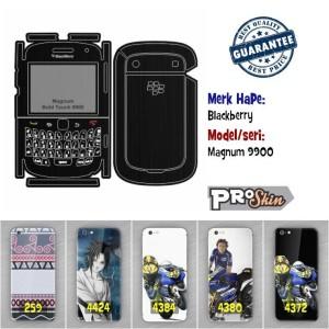 Garskin hp Blackberry Magnum 9900 branded murah bisa pakai foto sendir