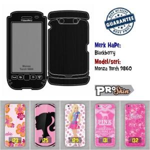 Garskin hp Blackberry Monza Torch 9860 branded murah motif kustom