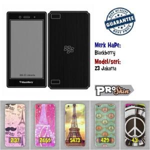 Garskin hp Blackberry Z3 Jakarta branded murah bisa pakai foto sendiri