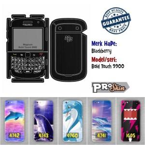 Garskin hp Blackberry Bold Touch 9900 branded murah bisa pakai foto se