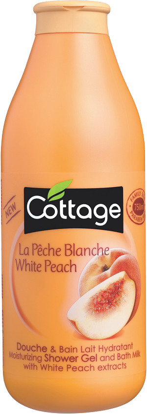 COTTAGE SHOWER GEL-Douche & Bain Pche Blanche 750ML 100% ori