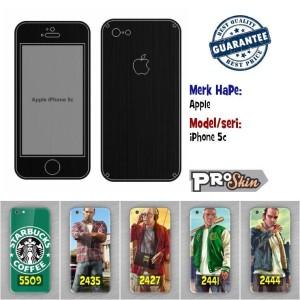 Garskin hp Apple iPhone 5c branded murah motif kustom