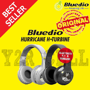 Bluedio H+ Turbine Hurricane Headphone Bass Bluetooth Wireless 4.1 - Hitam