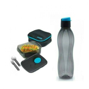 Tupperware Man Meal Set Collection Hitam .