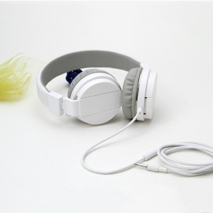 Headset Gorsun GS-779 Adjustable Foldable Wired Stereo Headset White