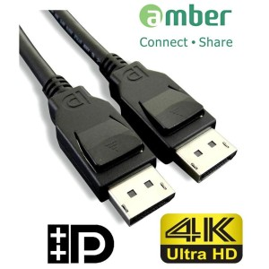 Cable / Kabel Amber DPC-218 - Display Port 1.2, 144Hz Ready 1.8M