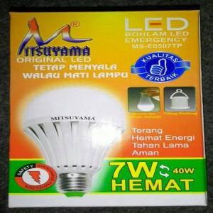 LAMPU LED EMERGENCY 7 WATT MITSUYAMA LIMITED!   Grosir!