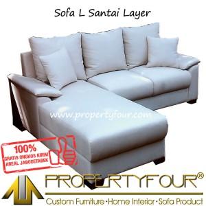 Sofa Kursi Tamu Model L Sudut Layer