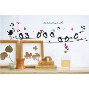 Singing Birds AY7019 - Stiker Dinding / Wall Sticker (50x70)