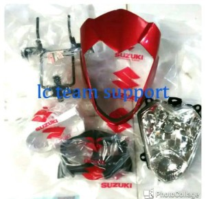 harga Paket Batok Satria Fu Fullset Oruginal Suzuki Warna merah dan biru Tokopedia.com