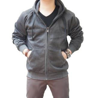 Jual Jaket hoodie Zipper Polos Abu Misty Tua - TYO-STORE | Tokopedia