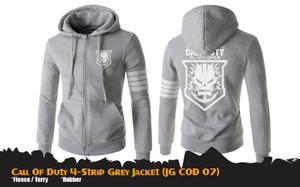 Jaket Anime Game Call Of Duty Grey 4-Strip Jacket Hoodie (JG COD 07)