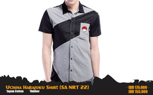 Kemeja Anime Naruto Uchiha Clan Harajuku Style Shirt (SA NRT 22)