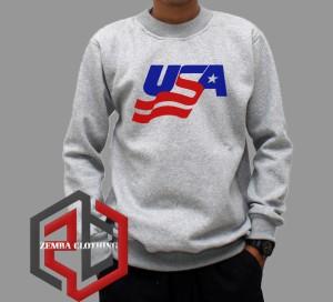 Sweater USA Logo #1 - Zemba Clothing