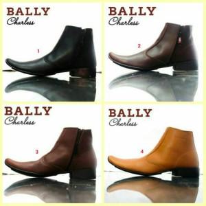 Sepatu Pria Pantofel Bally Kulit Kuliah Kerja Formal Kantor Fullblack