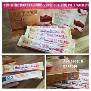 RWPS VERSI III (RED WINE PAPAYA SOUP) Limited