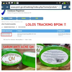 Sabun Anti Acne QM aman sudah BPOM 18141201832 Limited