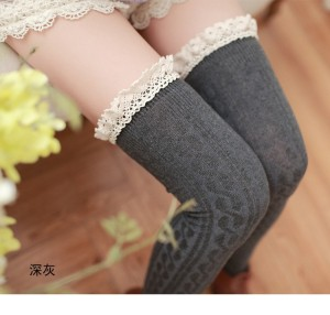 S/5 Tight shok stoking stocking renda rajut lucu unik 6 Warna
