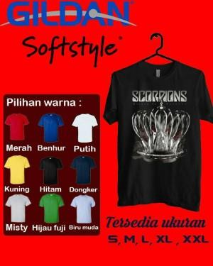 kaos Scorpions tshirt gildan Softstyle 1
