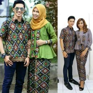 Jual Baju Batik Couple Kebaya Alifia Seragam Pesta Hijab