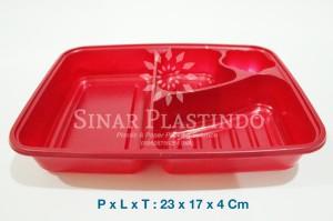 Tray bento / tempat makan / box catering + tutup