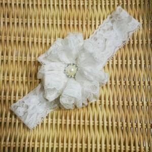Barika 0168 bandana bayi baby headband jepit rambut bando anak putih