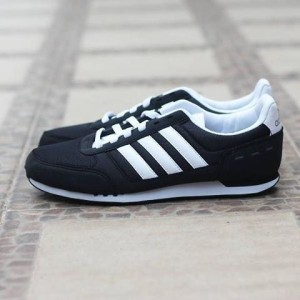 ADIDAS NEO CITY RACER II BLACK/WHITE ORIGINAL MADE IN INDONESIA