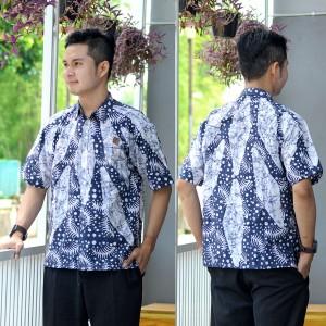 Hem Batik Cap - kemeja batik lengan pendek RK03
