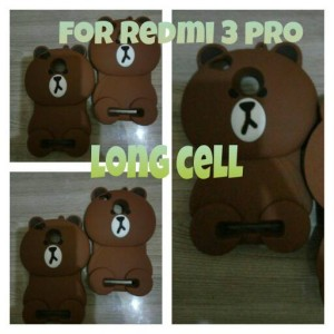 Back Soft Case Cute Rubber Baby Bear Cover Casing Xiaomi Redmi 3 Pro