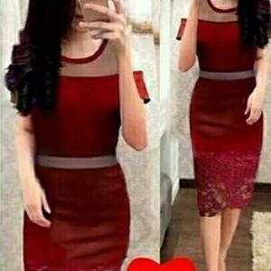 Dress hilary red