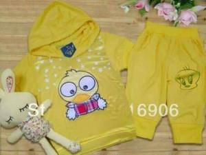 Stelan/Set hoddie kuning limited stock#import