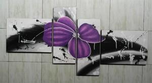 Lukisan Bunga ABS33 Ungu