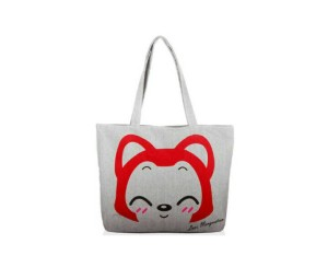 Canvas Tote Bag Kitty