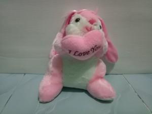 Boneka Kelinci Bantal Love tinggi 19cm -Boneka Kelinci Bahan polyester