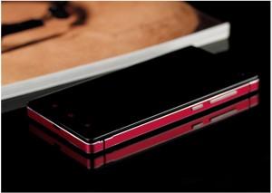 Casing Xiaomi Mi3 tempered glass case aluminium metal bumper back case