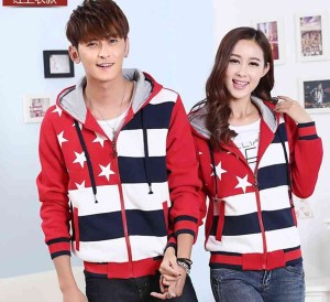 FG - [Couple Five Star Merah LO] jaket couple babytery merah
