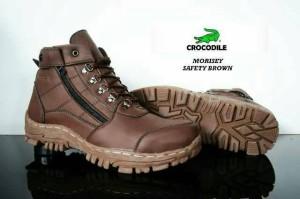 sepatu boot safety crocodile morisey brown