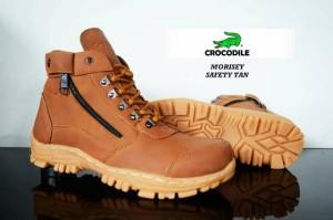 sepatu boot safety crocodile morisey tan