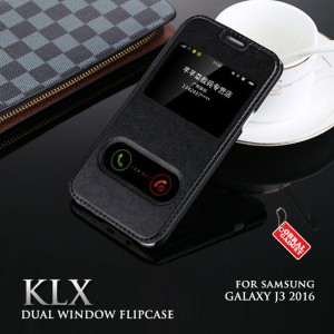 Samsung Galaxy J3 2016 KLX Leather Flip Case casing bumper dompet kuat