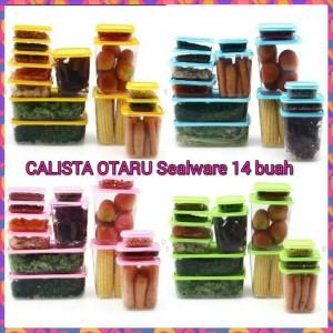 Original Calista Otaru Sealware Toples Wadah Tempat Makanan 14 Pcs